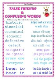 VOCABULARY - confusing words & false friends