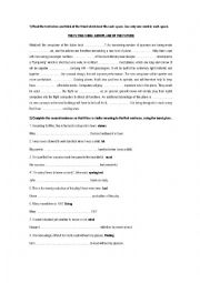 English Worksheet: FIRST CERTIFICATE EXAM