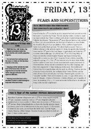 English Worksheet: Friday 13th
