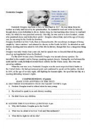 Printables Frederick Douglass Worksheet english worksheets reading comprehension page 298 frederick douglass