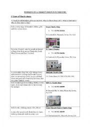 English Worksheet: Charity Shops