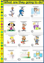 English Worksheet: BE GOING TO - speaking activity