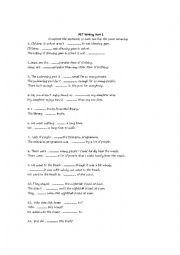 English Worksheet: PET Writing Part 1 Exam Practice