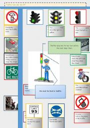 English Worksheet: Traffic Rules are