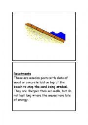 English Worksheet: COASTAL LANDFORMS DEFENCE SYSTEMS