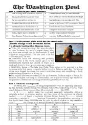 English Worksheet: The Newspaper Article