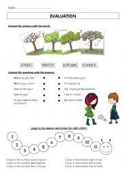 English Worksheet: Evaluation