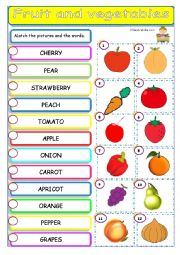 fruit and vegetable matching