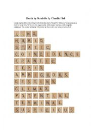 Death by Scrabble - Charlie Fish   Essay writing activity
