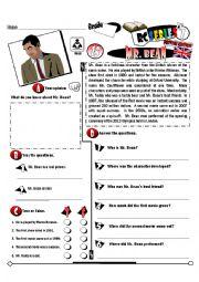 English Worksheet: RC Series British Edition_15 Mr.Bean (Fully Editable + Key)