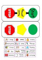 English Worksheet: Visual Schedule
