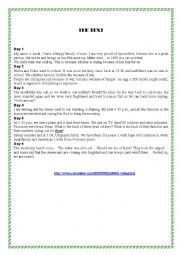 English Worksheet: A diary about Iraqi war (Reading)