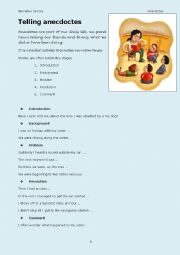 English Worksheet: Telling anecdotes