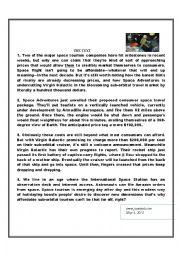 English worksheet: full-term exam for bac students
