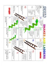SHOULD SNAKES AND LADDERS