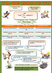 English Worksheet: TO BE GOING TO