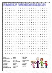 FAMILY - WORDSEARCH