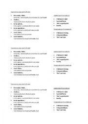 English Worksheet: Expressing your Opinion