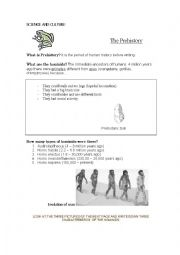 English Worksheet: What is Prehistory?