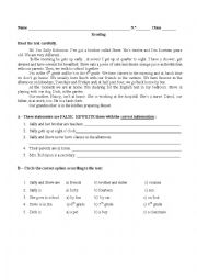 English Worksheet: 6th  grade test