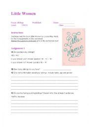 Worksheet Little Women