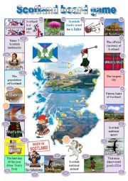 English Worksheet: Scotland board game