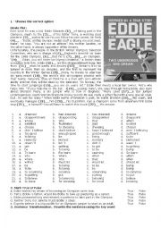 English Worksheet: Eddie The Eagle