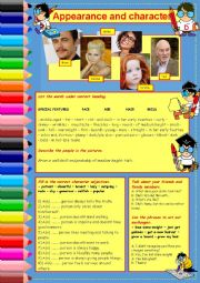 English Worksheet: APPEARANCE & CHARACTER