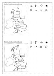English Worksheet: What´s the weather like -audio vocabulary and activities