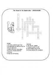 English Worksheet: The Hound of the Baskervilles - CROSSWORD