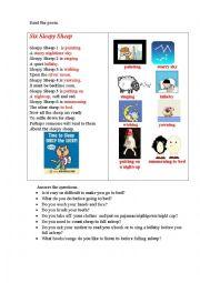 English Worksheet: SLEEPY SHEEP