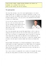 UEFA EURO 2016 Germany Players Profile Toni Kroos incl. Worksheet