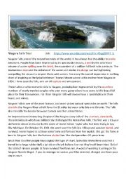 english worksheets niagara falls tour. Black Bedroom Furniture Sets. Home Design Ideas