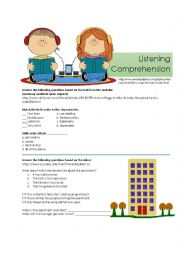 English Worksheet: 5 Listening Activities or Tests