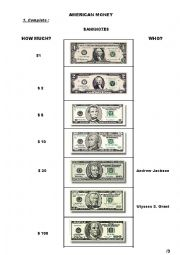 American money test