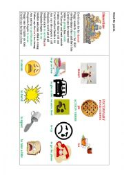 English Worksheet: DINNERTIME (a poem)