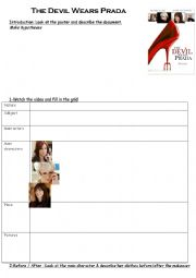 english worksheets the devil wears prada trailer. Black Bedroom Furniture Sets. Home Design Ideas