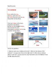 English Worksheet: RAINBOW (a poem)