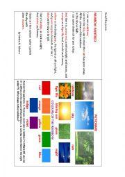 English Worksheet: RAINBOW PAINTBOX (a poem)