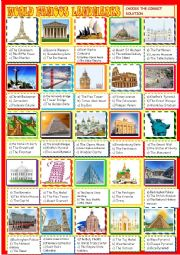 World landmarks : multiple choice