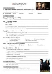 English Worksheet: Elementary Episode Pilot (keys included)