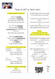 English Worksheet: taylor swift