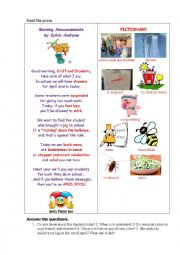 English Worksheet: APRIL FOOL (a poem)