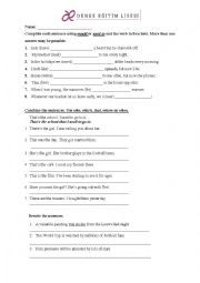 English Worksheet: Passive Active -Would Used to