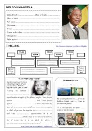 English Worksheet: NELSON MANDELA