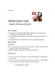 English Worksheet: Modern Family - Learning vowels /u/ /u:/