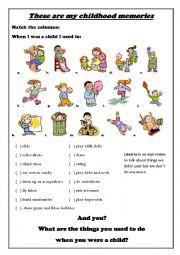 English Worksheet: Childhood Memories