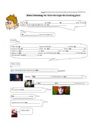 English Worksheet: Alice through the Looking Glass