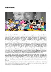 English Worksheet: Walt Disney
