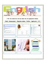 English Worksheet: Formal documents